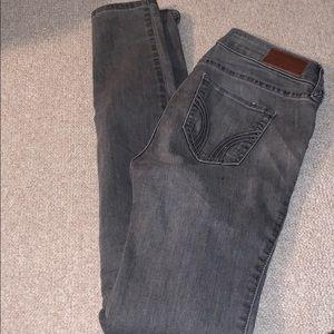 hollister grey skinny jeans
